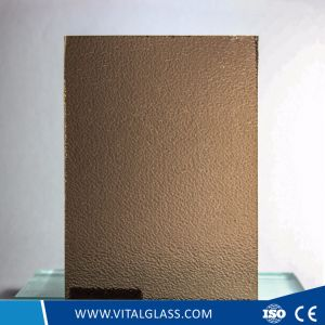 3-6mm Figured Glass/Bronze Nashiji Patterned Glass with Ce&ISO9001 pictures & photos