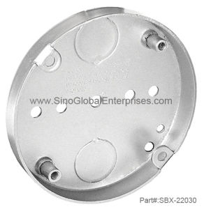 "Deep Fan Support Pan Junction Box with (2) 1/2"" Conduit Knockouts (SBX-22030)"