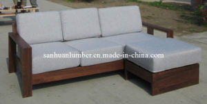 Walnut Sold Wood Sofa with Vanish Paint pictures & photos