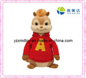 Cute Plush Toy Chipmunk with Red Shirt pictures & photos