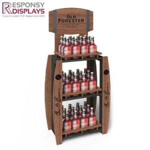 Customized Wood Floor Beer Display Stand Wine Display Shelf pictures & photos