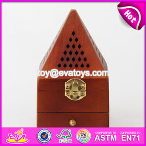 Hot Sale Antique Pyramid Design Wood Incense Holder / Incense Burner W02A258 pictures & photos