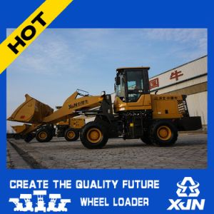 China Export Mini Loader 1.6ton Rated Load with Snow Shovel Wheel Loader Zl20 pictures & photos