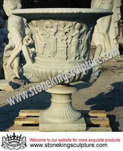 Marble Garden Flower Pot and Vases, Planters (SK-2313) pictures & photos