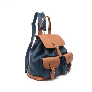 Preppy Style Contrast Colors Flap Women Backpacks (MBNO043027) pictures & photos