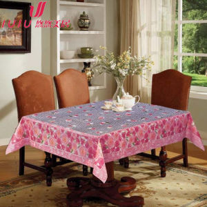 Crystal Tablecloth with Seperated Design, Flower Design Table Cloth, Table Covers for Weddings