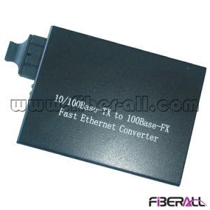 10/100m Fiber Optic Media Converter 1310nm 1X9 mm 2km External pictures & photos