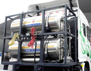 Chinese Good Quality Stainless Steel Cryogenic LNG Storage Tank for Truck, Bus, Car