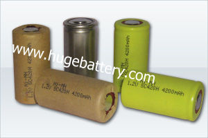 1.2V Sc size 4200mAh NiMH High Temperature Battery (SC) pictures & photos