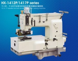 12/17 Needles Flatbed Double Industrial Chainstitch Sewing Machine (ES-1412P/1417P Series)