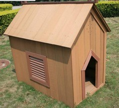 Wood-Plastic Composite Outdoor Furniture--Dog House