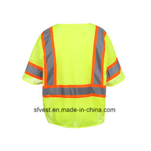 Class 3 ANSI/Isea Standard Customed 100% Polyester Safety Reflective Mesh Vest pictures & photos