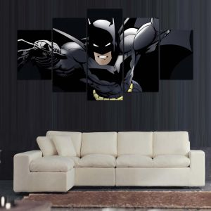 5 PCS Canvas Wall Art Cartoon Batman Picture Print Painting on Canvas for Home Decor Living Room Canvas Print Painting Mc-158 pictures & photos