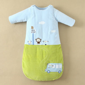 85% Cotton 15% Polyster Fibers Kids Sleeping Bags Used in Two Ways