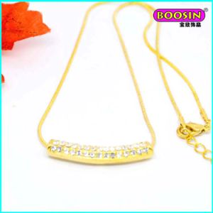 Manufacturer Wholesale 18k Gold Pendant Necklace with Crystal pictures & photos