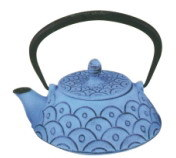 Cast Iron Teapot with Blue Coating (CL1D-CLW2090) pictures & photos