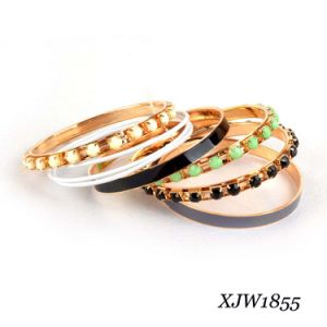 Bead Enamel Iron Bangle Set (XJW1855) pictures & photos