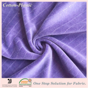 Solid Color Velvet Fabric with Sheer String for Garment, Home Textile (Multiple Color Options)