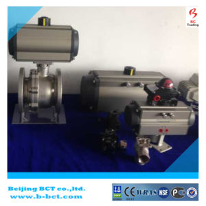 Wafer type rubber sealing butterfly valve with pneumatic actuator BCT-P-WBFV-01 pictures & photos