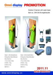 Display Stand Banner Outdoor Single Side or Double Sides (DW-OD-B 80*180CM) pictures & photos