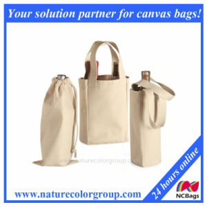 Single/Double Bottle Wine Tote, Drawstring Wine Bag pictures & photos