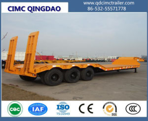 Cimc 120tons 3 Lines 6 Axles Low Bed/Lowboy Semi Truck Chassis pictures & photos