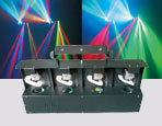 Four Head LED Scan Light
