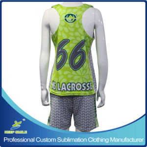 Custom Sublimation Printing Girl′s Lacrosse Uniforms pictures & photos