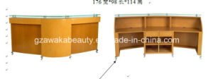 2014 Newest Beautiful Salon Used Curved Modern Desk Reception