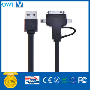 Charger andTransfer Data Flat 8pin/30pin/Mini USB to USB Cable pictures & photos