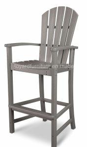 Modern Outdoor Garden Patio Wooden Strong Frame Bar Furniture Adirondack Back Bar Chair pictures & photos