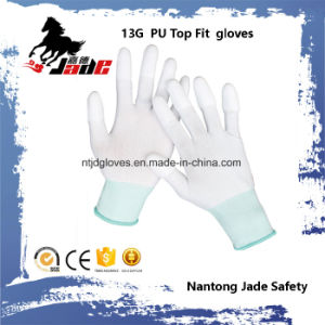 13G Nylon PU Coated Top Fit Glove pictures & photos