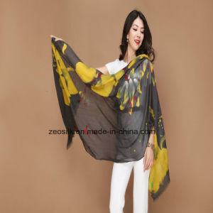 Printed Pure Wool Shawl for Winter Women