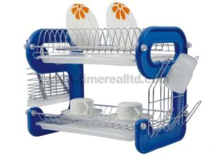 2 Layers Metal Wire Kitchen Dish Rack Plastic Board No. Dr16-9bp pictures & photos