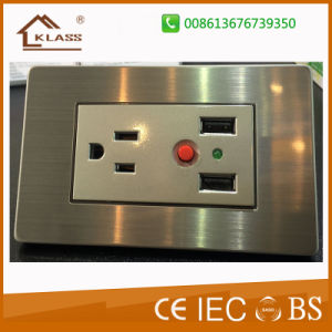 High Quality Double 3 Pole Wall Socket pictures & photos