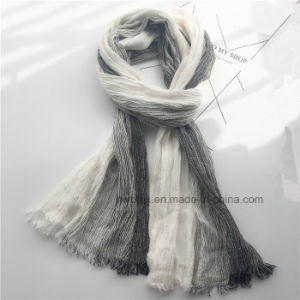 Fashion Woven Degrading Linen Cotton Soft Unisex Scarf/ Shawl (HWBLC08) pictures & photos
