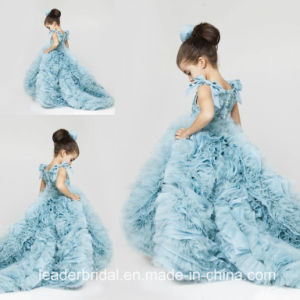 Blue Prom Party Dress Stage Performance Flower Girl Dress F131217 pictures & photos