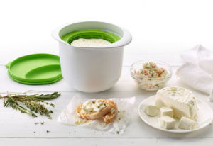 Cheese Maker Bowl/a Bowl to Warm The Milk, a Lid That Measures The Acid to Pour and a Strainer Where The Cheese Is Formed