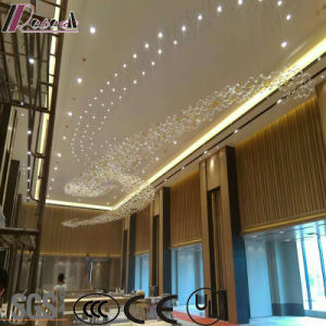 Modern Luxury Crystal Squar Pentand Lamp with Projece Hotel pictures & photos