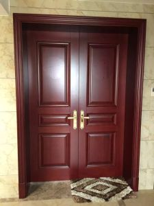 Solid Wood Modern Villa Door Entrance Security Door (XS1-021) pictures & photos