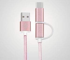 5V 2A 2 in 1 Sync and Charge 8 Pins Lightning USB Cable for Samsung, iPhone pictures & photos