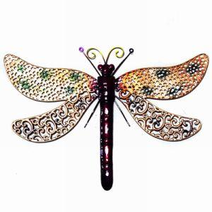 Multicolor Metal Dragonfly Wall Ornament Garden Decoration