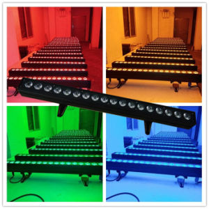 Sound Control DMX512 Rgbaw 5in1 Wall Washer 18PCS LED Light