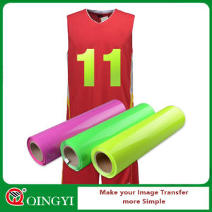 Qingyi Highlight Personality Heat Transfer PU Vinyl for T -Shirts pictures & photos