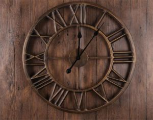 Industrial Metal Round Wall Clock