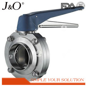 Hot Sale Sanitary Weld Butterfly Valve with Plastic Handle pictures & photos