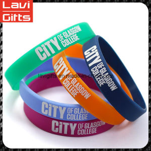 Wholesale Custom Fashion Printing Silicone Rubber Bracelet with Logo pictures & photos