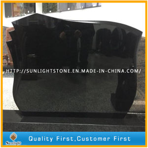 Polishsed Shanxi Black Absolute Black Granite Tombstone pictures & photos