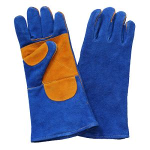 Double Palm Safety Leather Welders Working Gloves pictures & photos