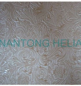 PVC Embossed Film for Stationery, Handbag, Cosmetic Bag, Wallet, Shopping Bag, Package Bag, Table Cloth, Shoes pictures & photos
